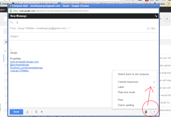 how to create email templates in gmail